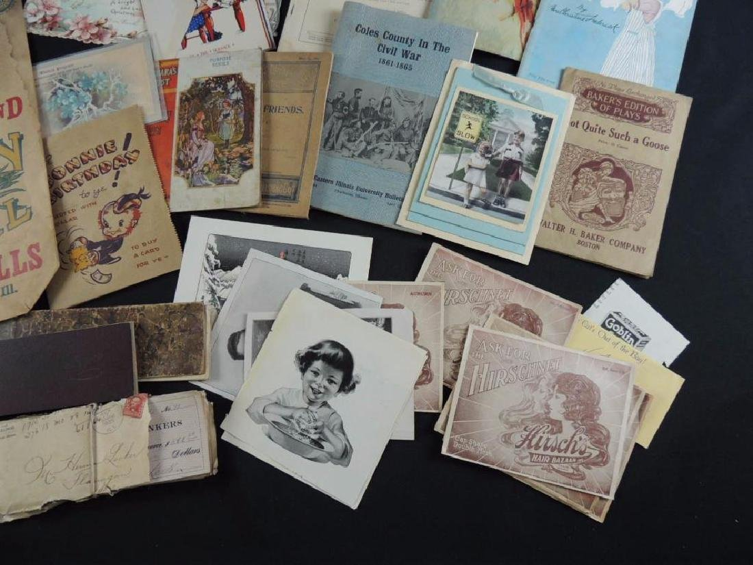 Group of Miscellaneous Ephemera Featuring Booklets, - 4
