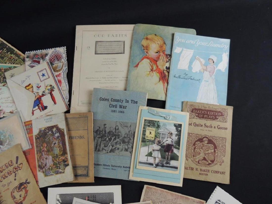 Group of Miscellaneous Ephemera Featuring Booklets, - 5