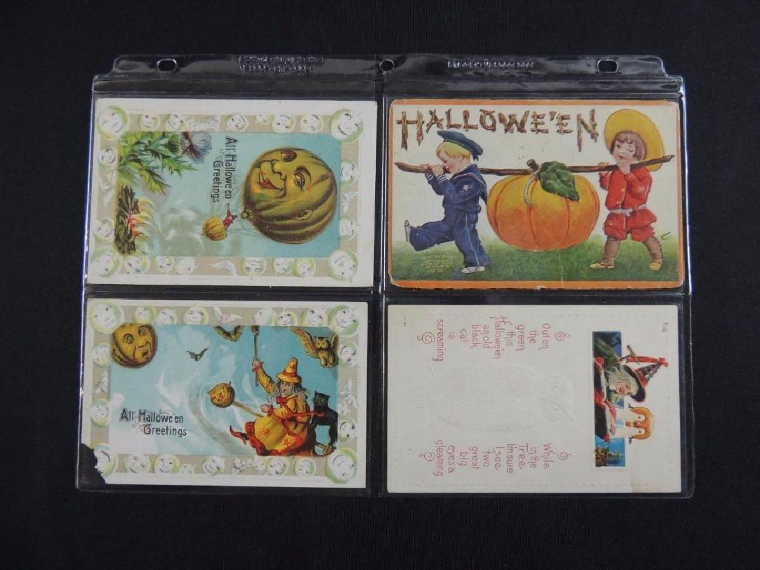 Group of 4 Halloween Postcards