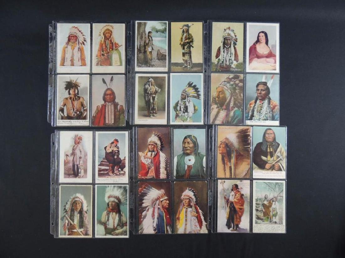 Group of 24 Native American Indian Postcards