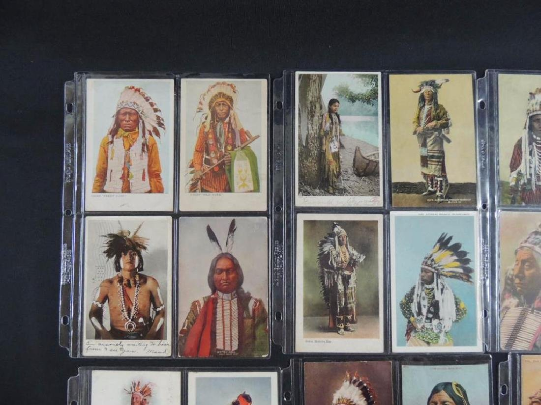 Group of 24 Native American Indian Postcards - 2