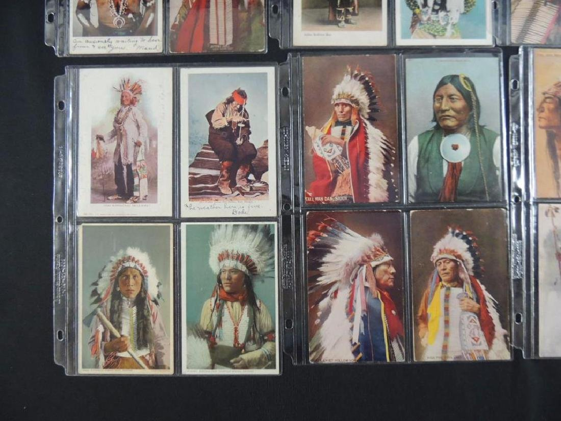 Group of 24 Native American Indian Postcards - 3