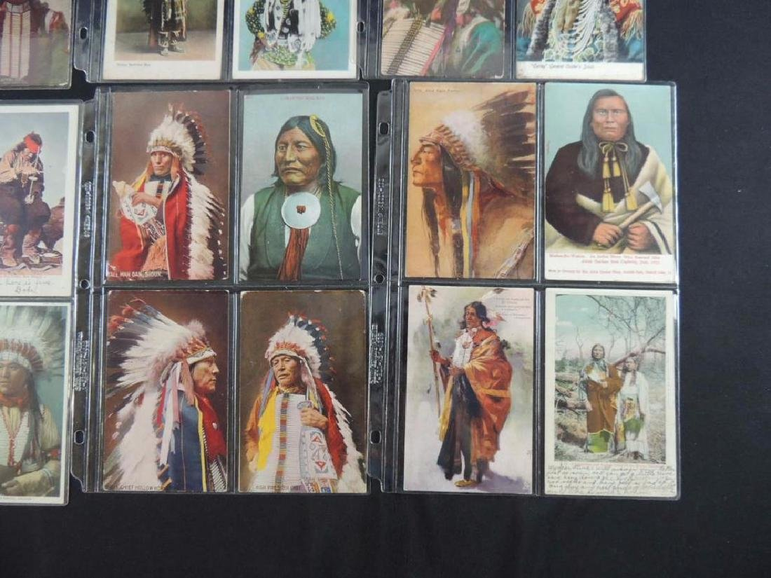 Group of 24 Native American Indian Postcards - 4