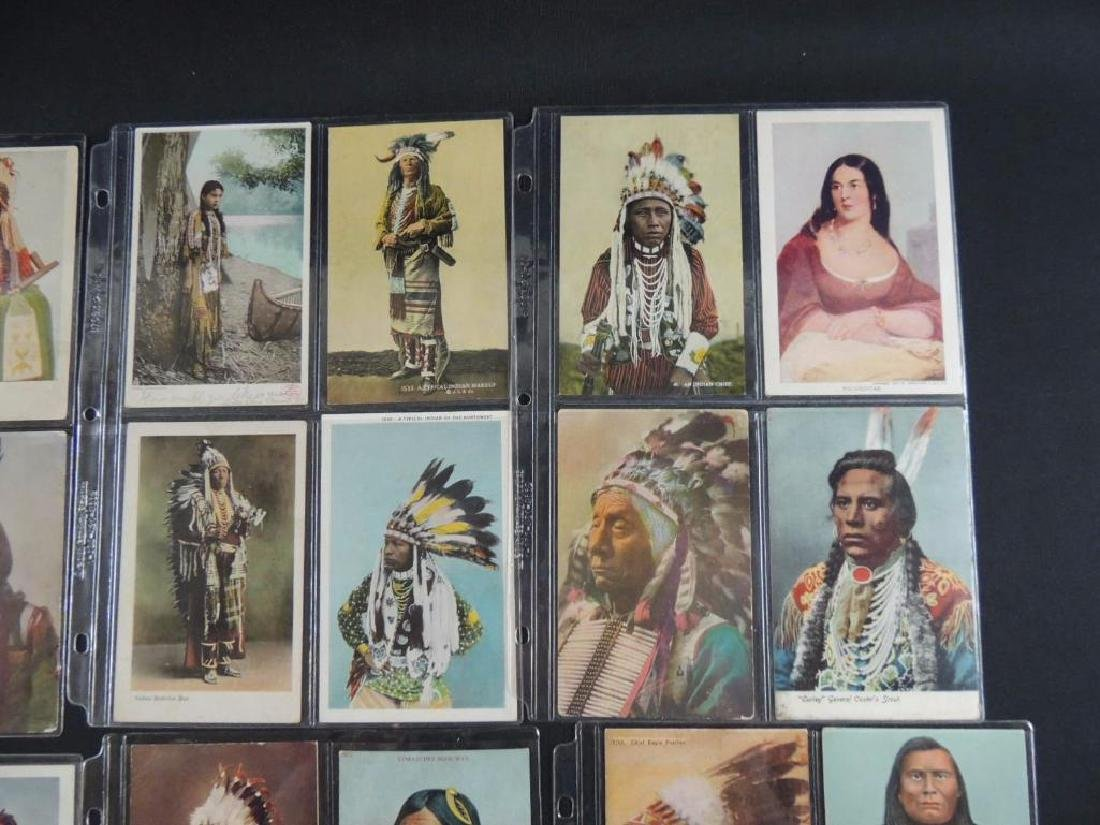 Group of 24 Native American Indian Postcards - 5