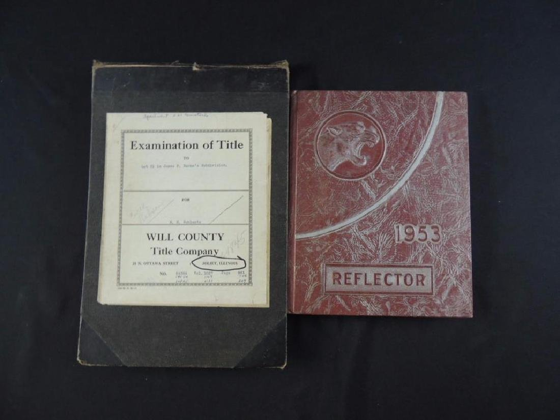 Group of 2 Books Featuring Will County Title Co. and
