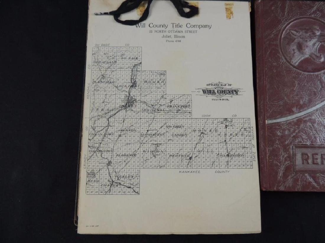 Group of 2 Books Featuring Will County Title Co. and - 3