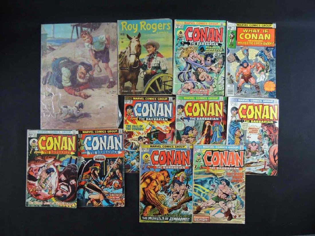 Group of Vintage Comic Books and Puzzle