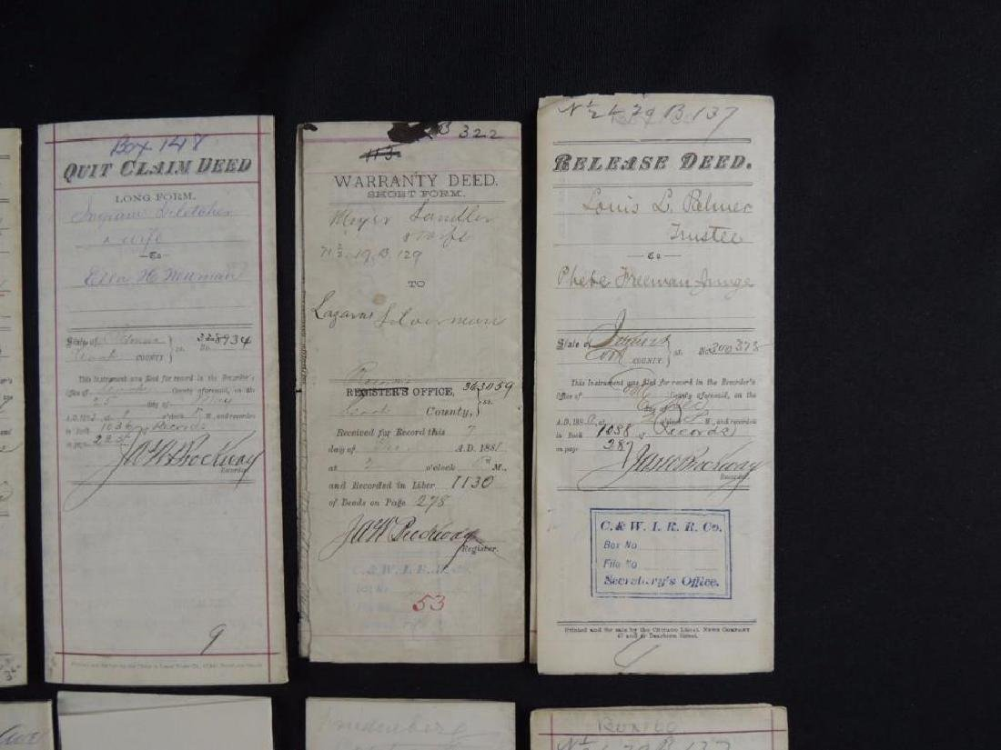 Group of 8 Chicago Deeds and Documents Circa 1880's - 3