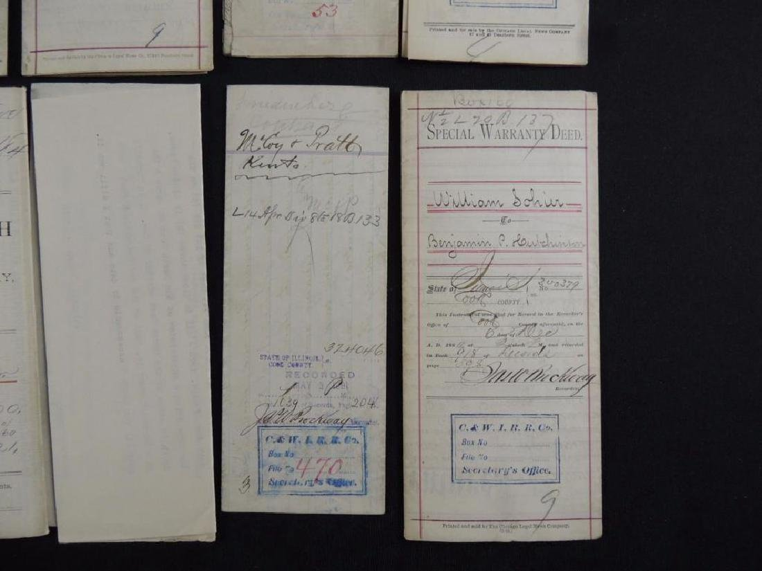 Group of 8 Chicago Deeds and Documents Circa 1880's - 4
