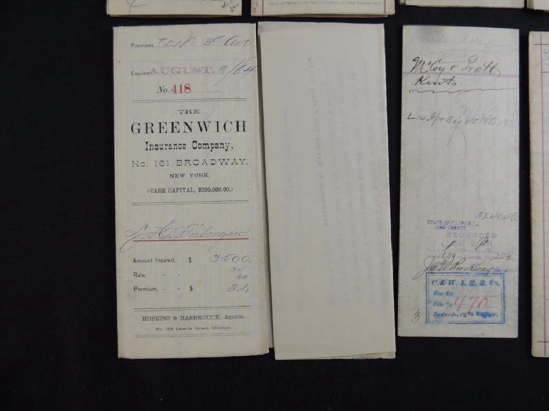 Group of 8 Chicago Deeds and Documents Circa 1880's - 5