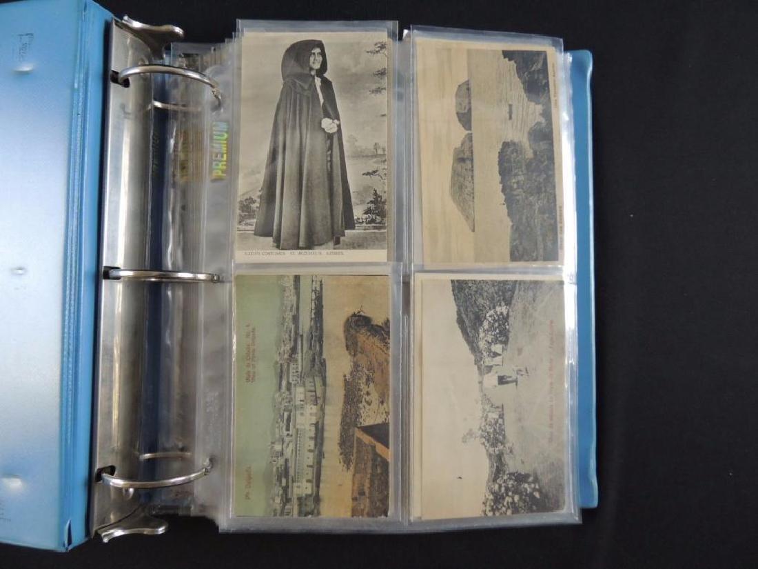 Postcard Album Featuring Approximately 130 Plus Azores