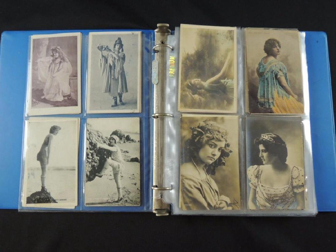 Postcard Album Featuring Approximately 80 Plus Early - 2