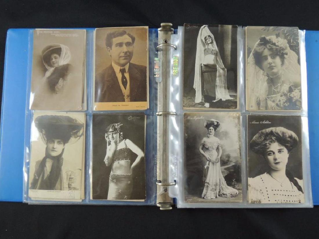 Postcard Album Featuring Approximately 80 Plus Early - 3