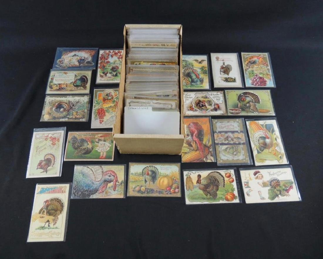 Approximately 350 Plus Thanksgiving Postcards