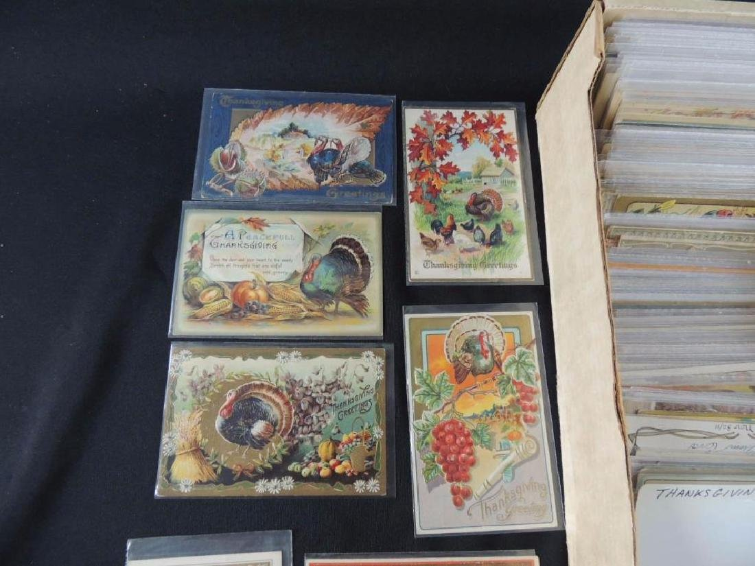 Approximately 350 Plus Thanksgiving Postcards - 5