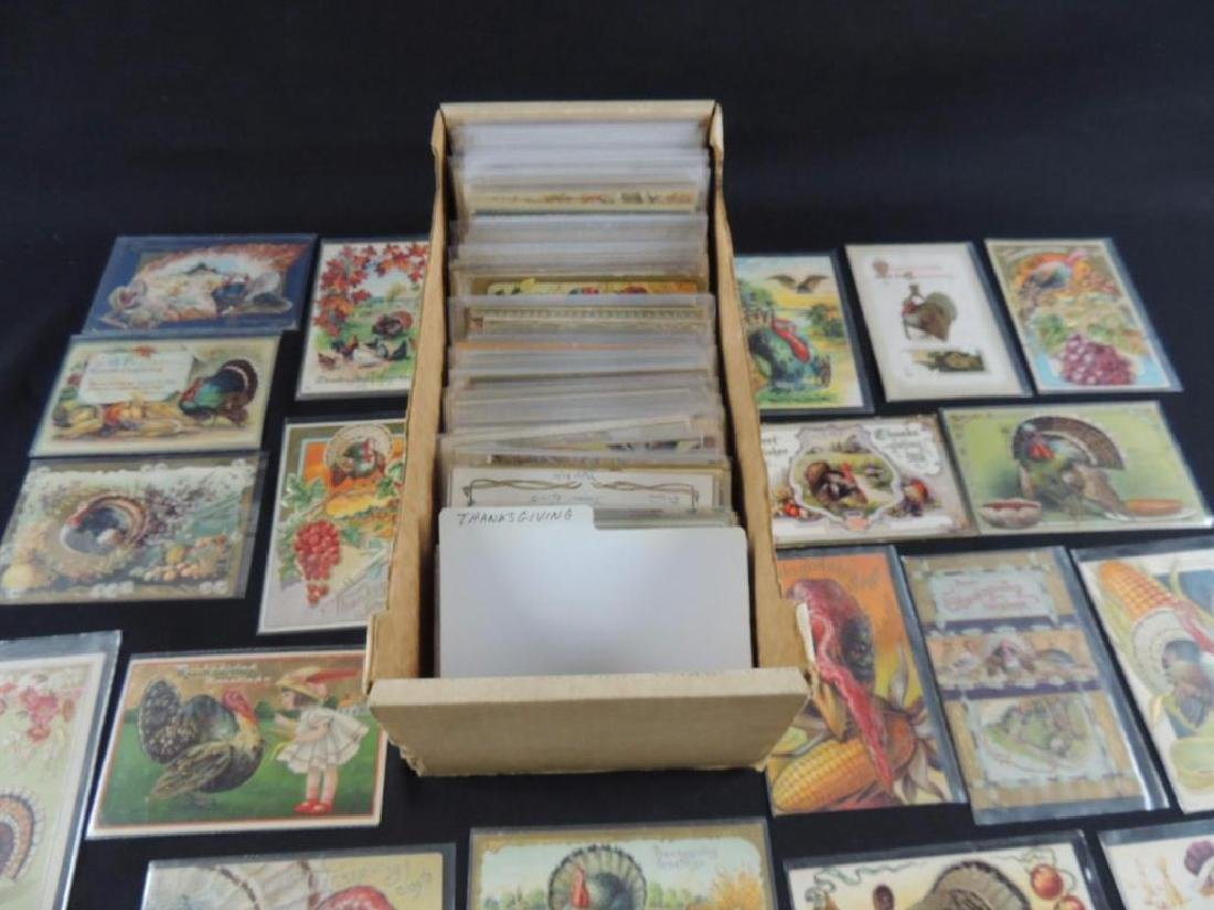 Approximately 350 Plus Thanksgiving Postcards - 6