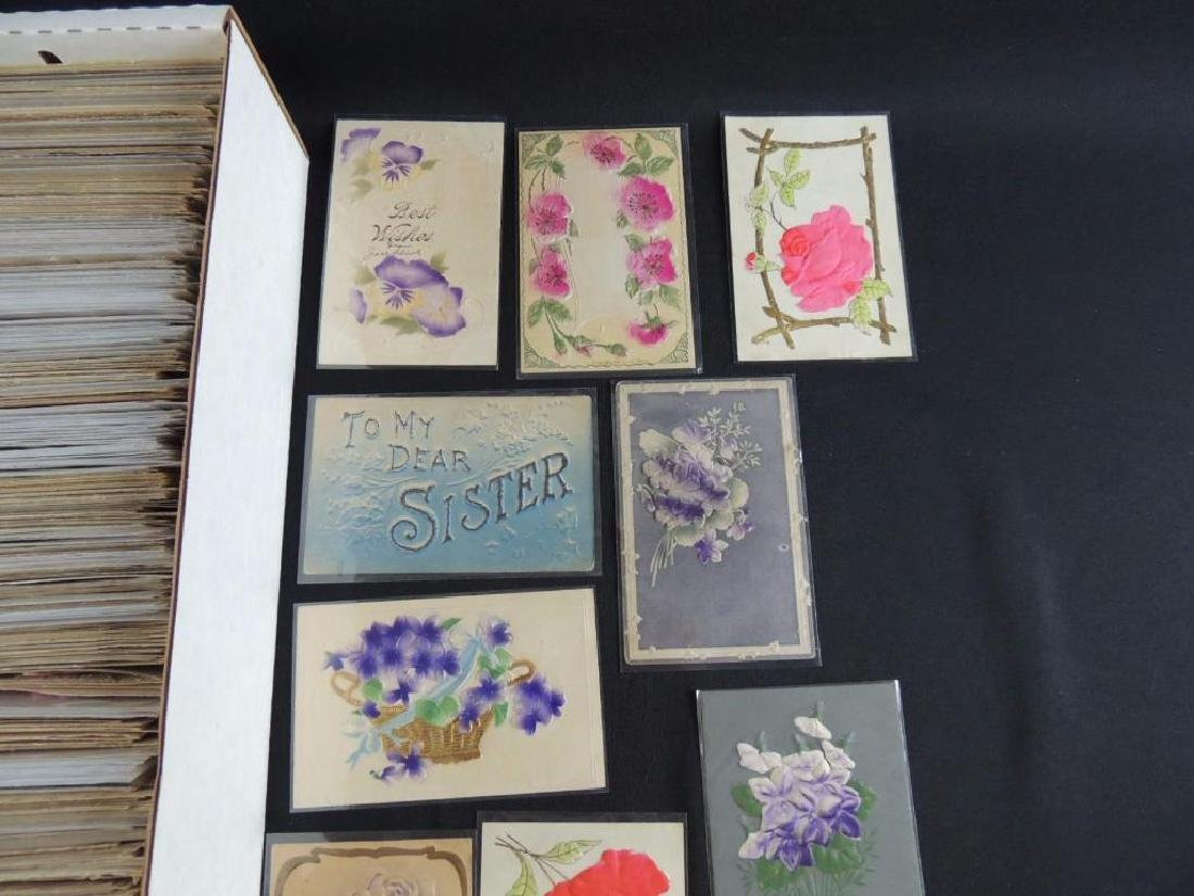 Approximately 700 Plus Best Wishes & Greeting Postcards - 2