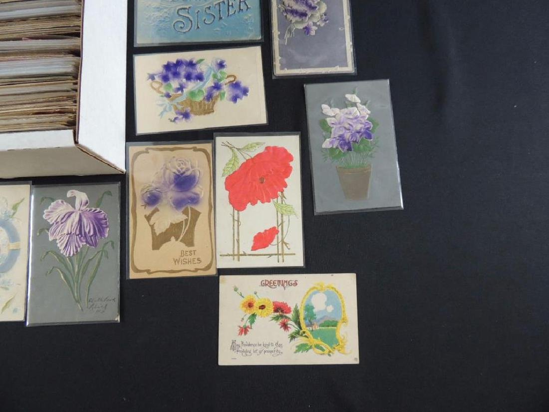 Approximately 700 Plus Best Wishes & Greeting Postcards - 3