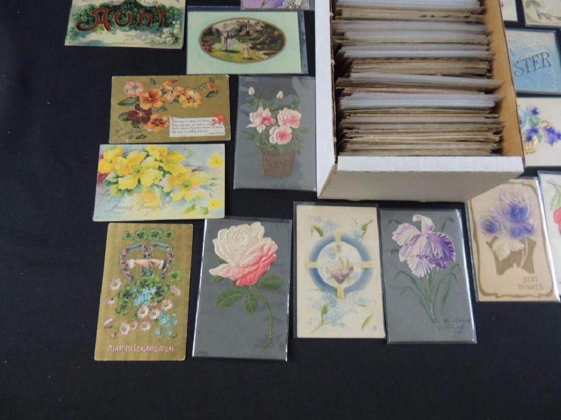 Approximately 700 Plus Best Wishes & Greeting Postcards - 4