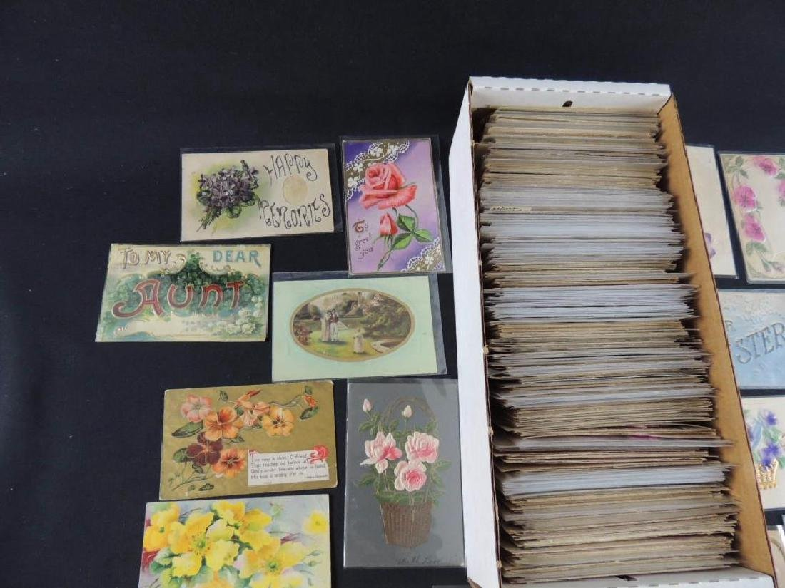 Approximately 700 Plus Best Wishes & Greeting Postcards - 5