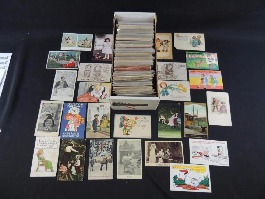Approximately 700 Plus Comic and Humor Postcards