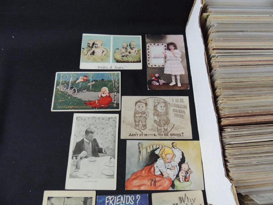 Approximately 700 Plus Comic and Humor Postcards - 3