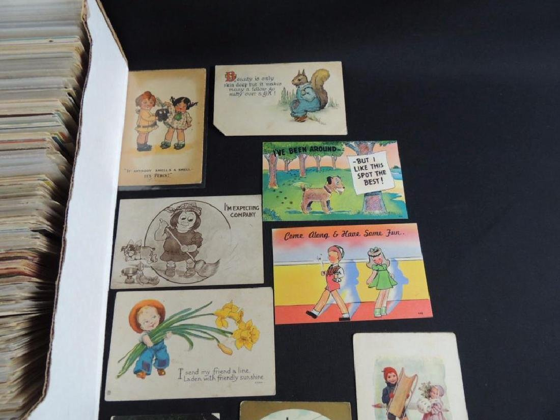 Approximately 700 Plus Comic and Humor Postcards - 4
