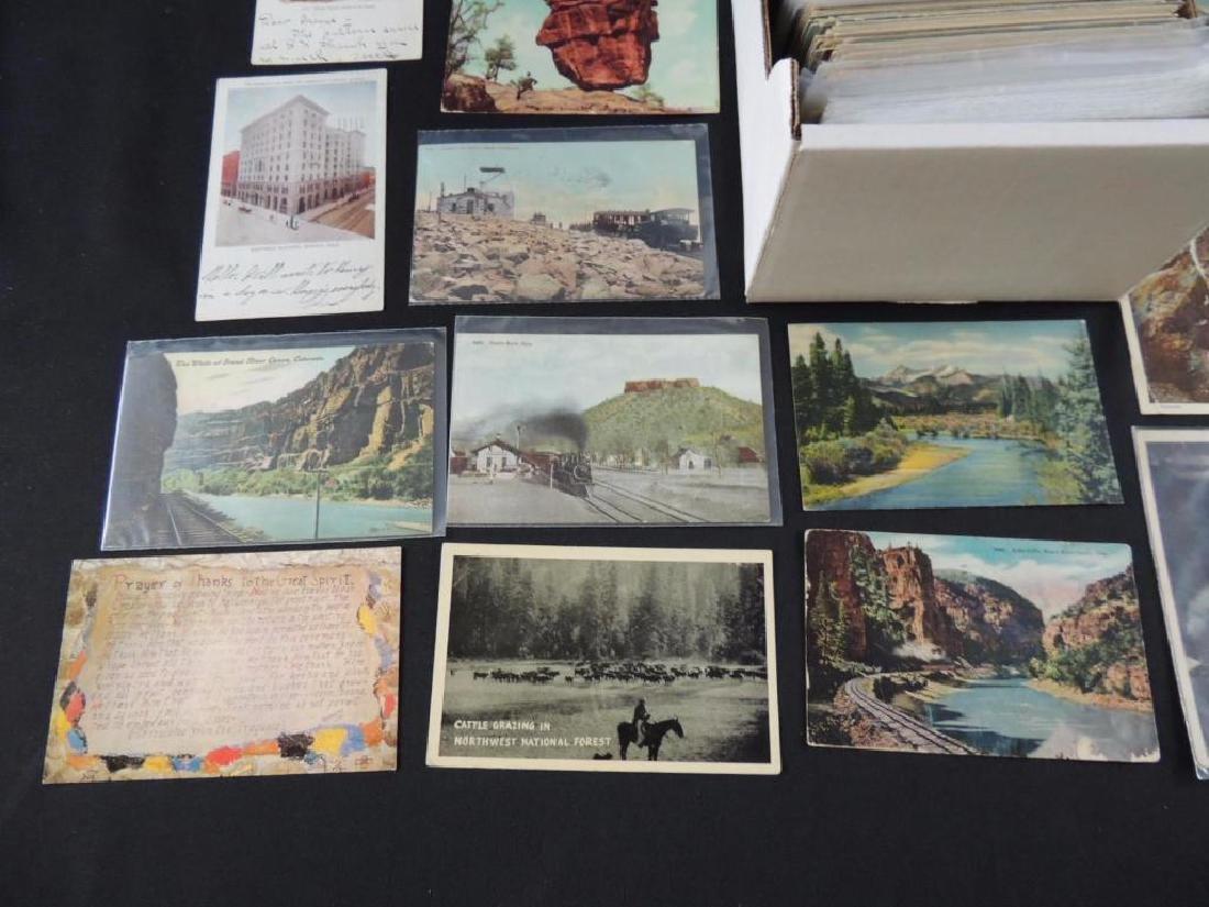 Approximately 700 Plus Colorado Postcards - 4