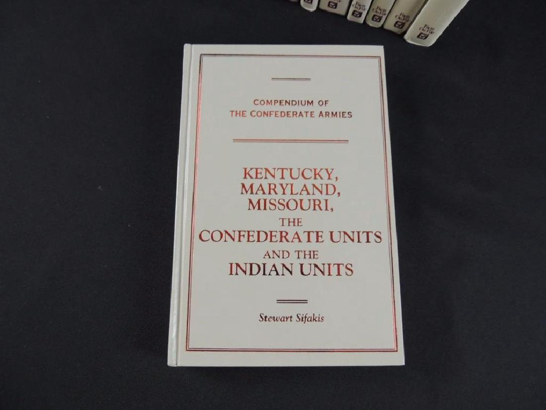 Group of 10 Compendium of the Confederate Armies by - 2