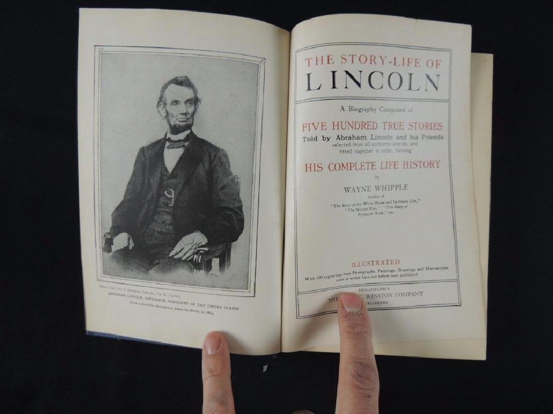 1908 The Story-Life of Lincoln by Wayne Whipple First - 2
