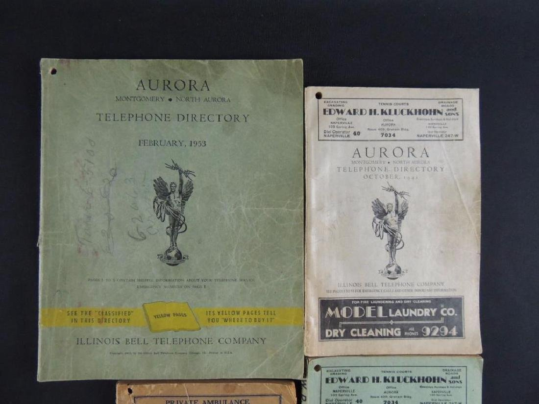 Group of 4 Antique Aurora Ill. Telephone Directories - 2