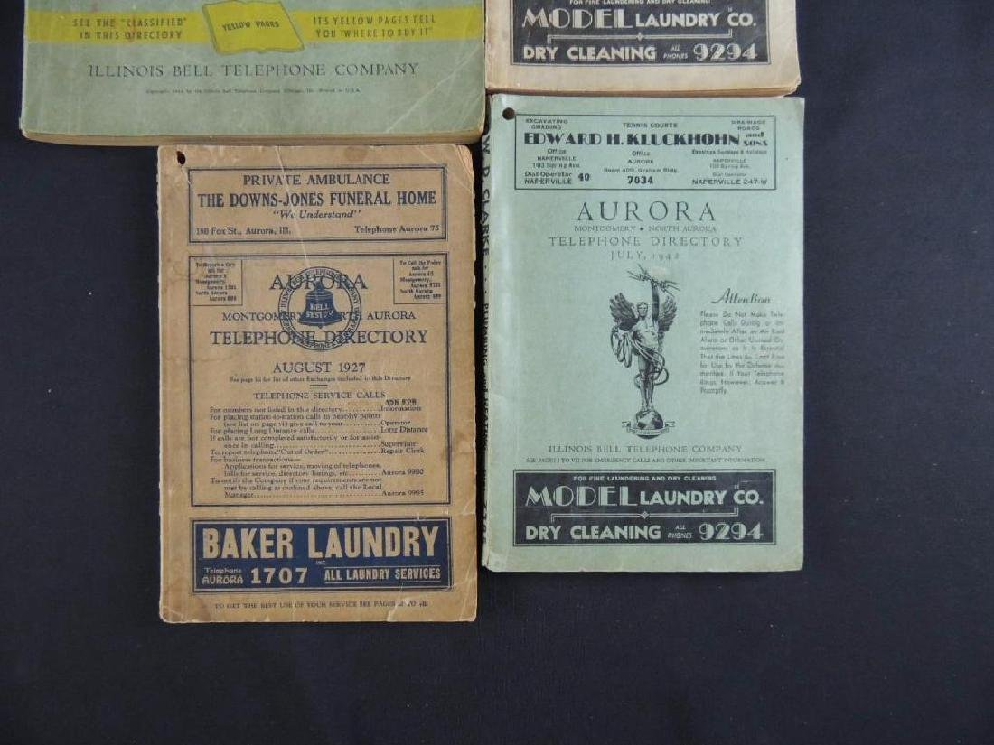 Group of 4 Antique Aurora Ill. Telephone Directories - 3