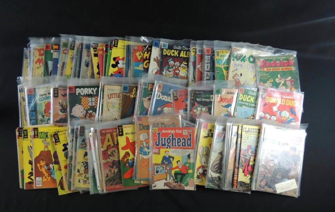 Large Group of Vintage Comic Books Featuring Disney, - 2