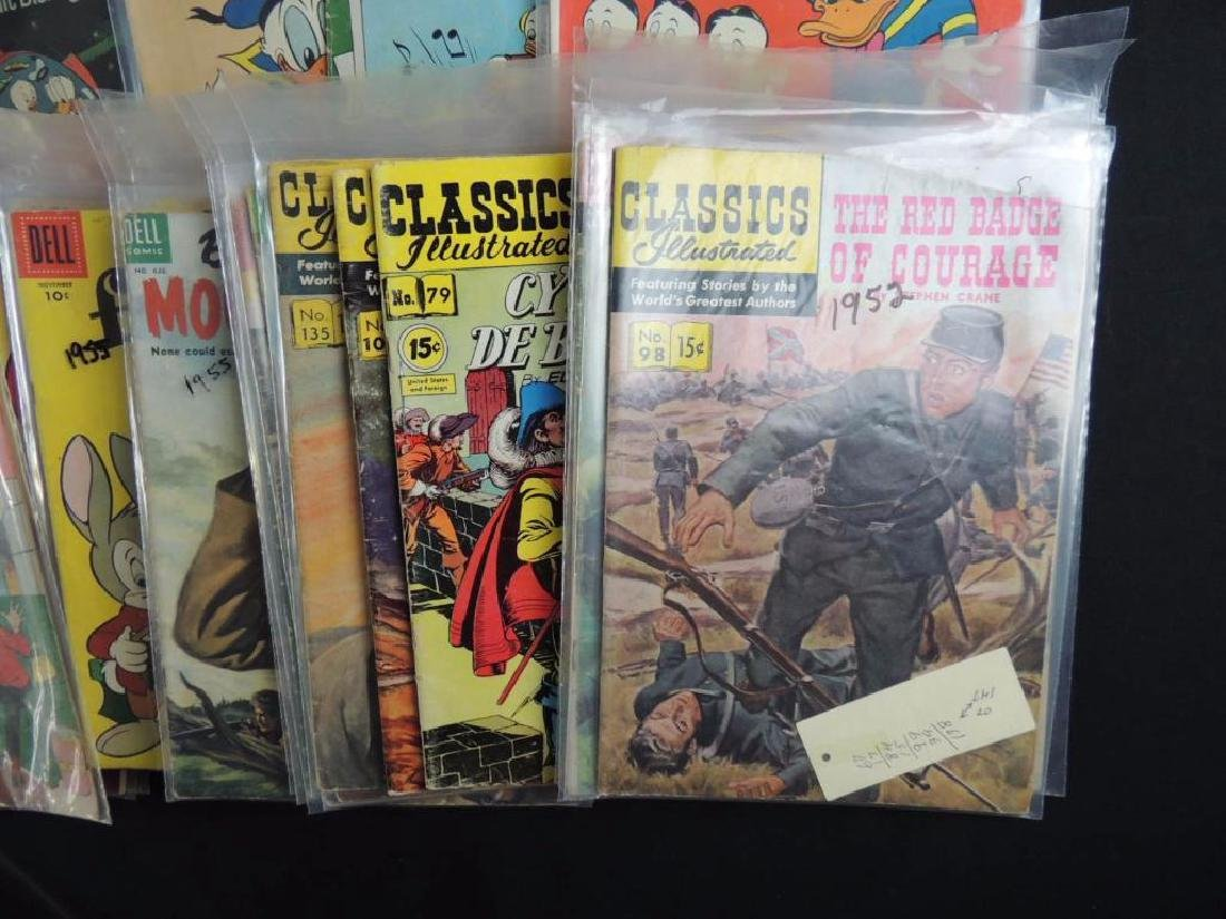 Large Group of Vintage Comic Books Featuring Disney, - 4