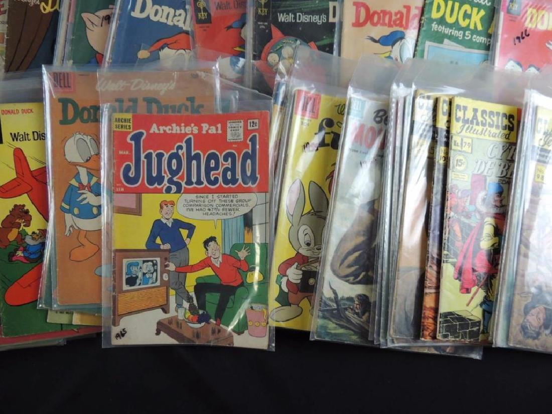 Large Group of Vintage Comic Books Featuring Disney, - 5