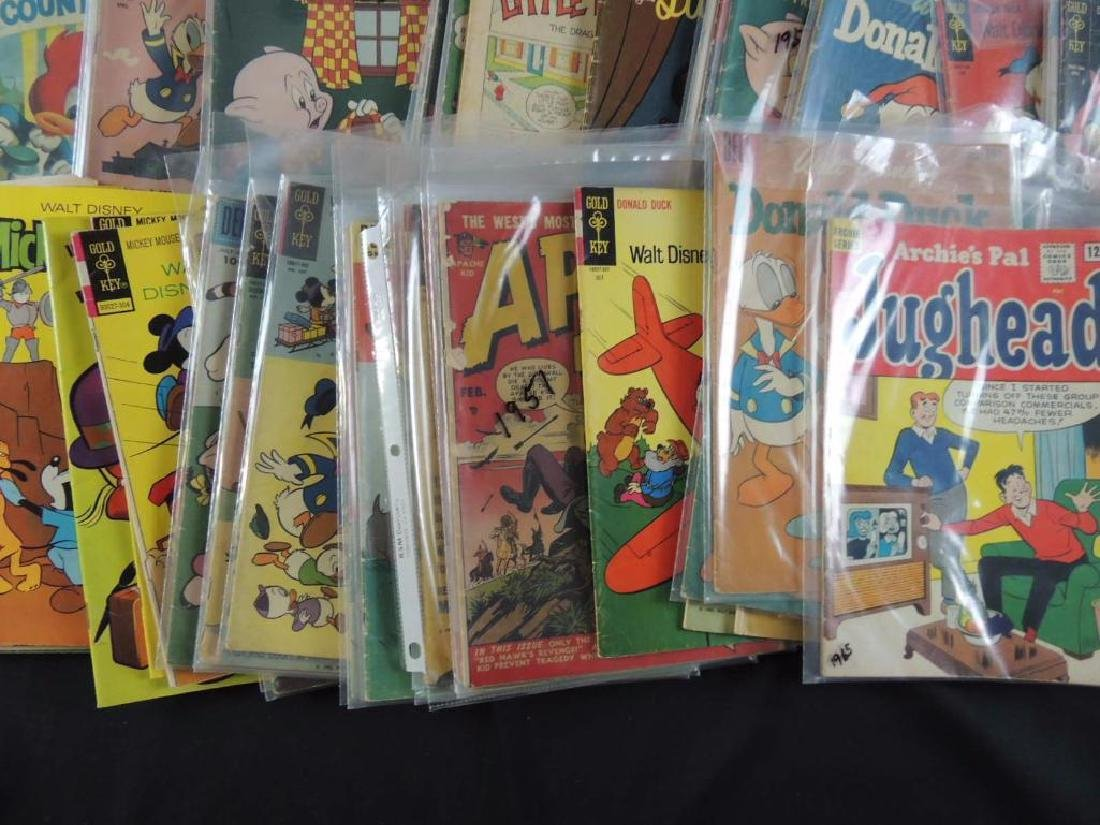 Large Group of Vintage Comic Books Featuring Disney, - 6