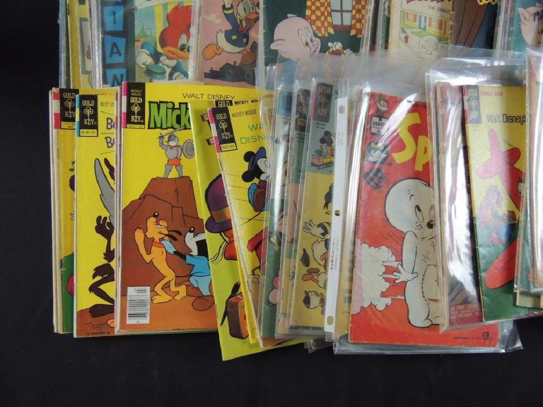 Large Group of Vintage Comic Books Featuring Disney, - 7