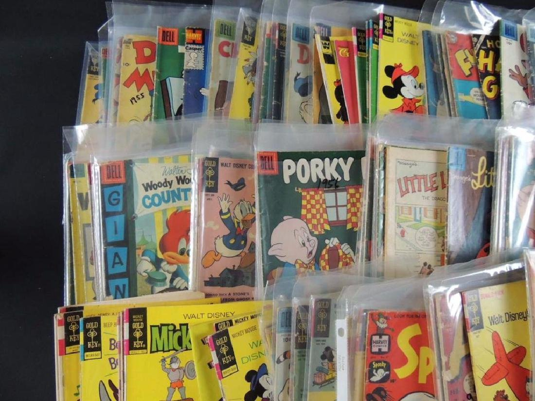 Large Group of Vintage Comic Books Featuring Disney, - 8