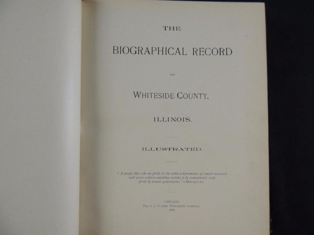 1900 The Biographical Record of Whiteside County Ill. - 2