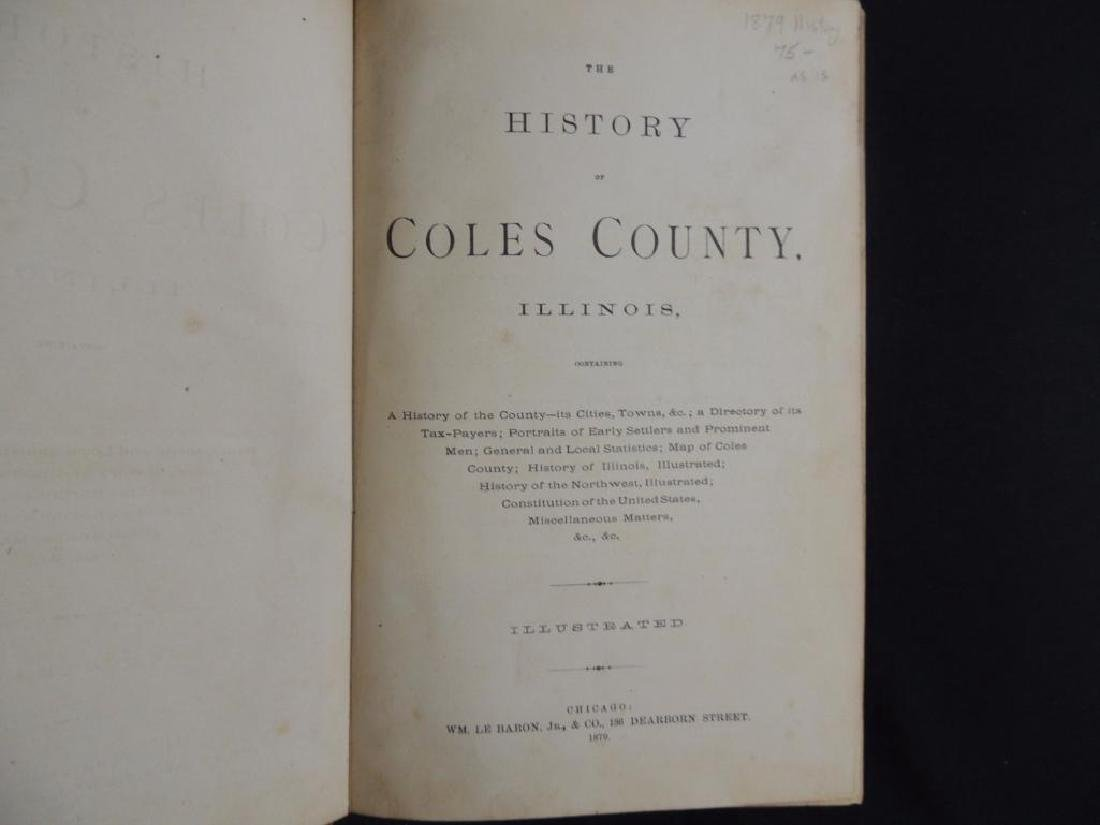 1879 The History of Coles County Illinois - 2