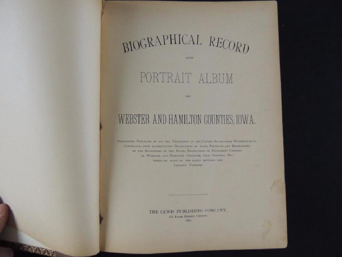 1888 Biographical Record and Portrait Album of Wedster - 2