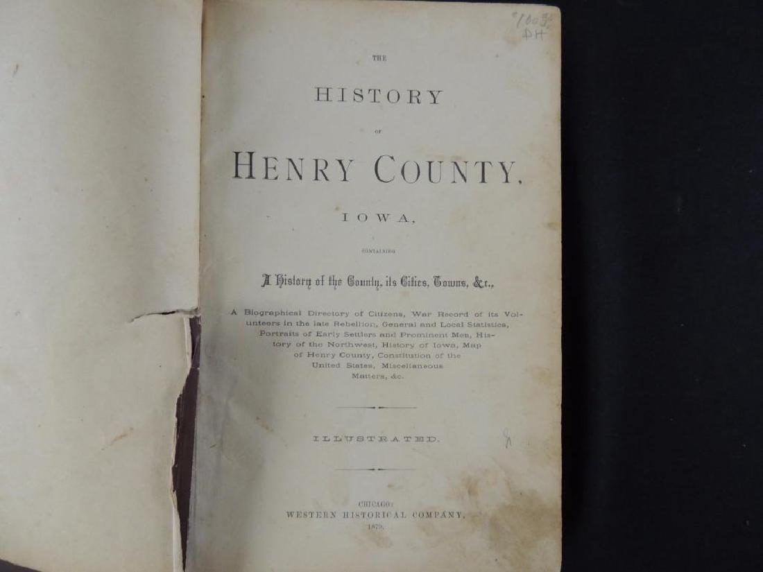 1879 The History of Henry County Iowa - 2