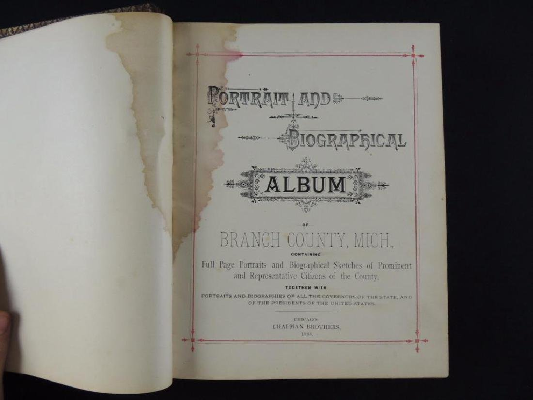 1888 Portrait and Biographical Album of Branch County - 2
