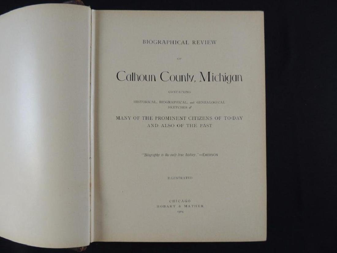 1904 Biographical Review of Calhoun County Michigan - 2