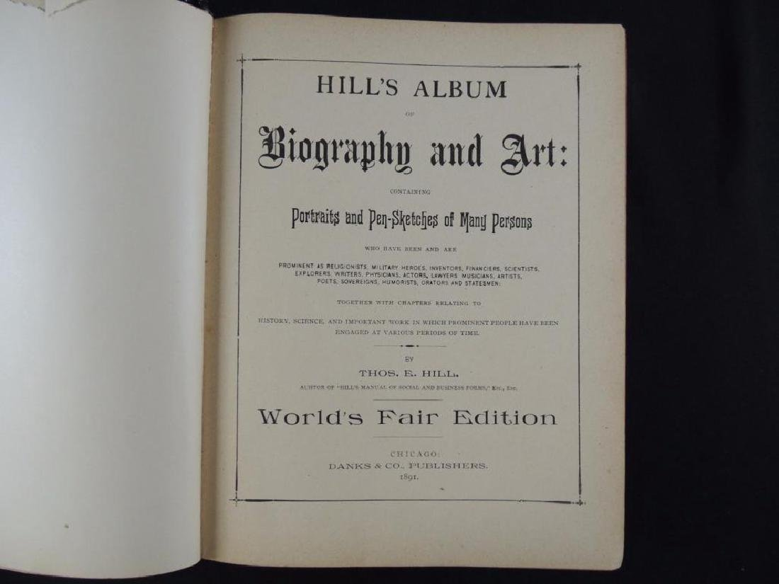 1891 Hill's Album of Biography and Art, Worlds Fair - 2