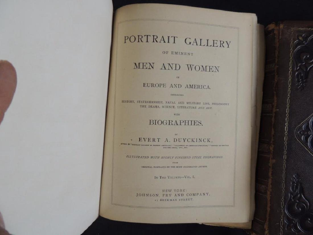 1872 Portrait Gallery of Eminent Men and Women by Evert - 3