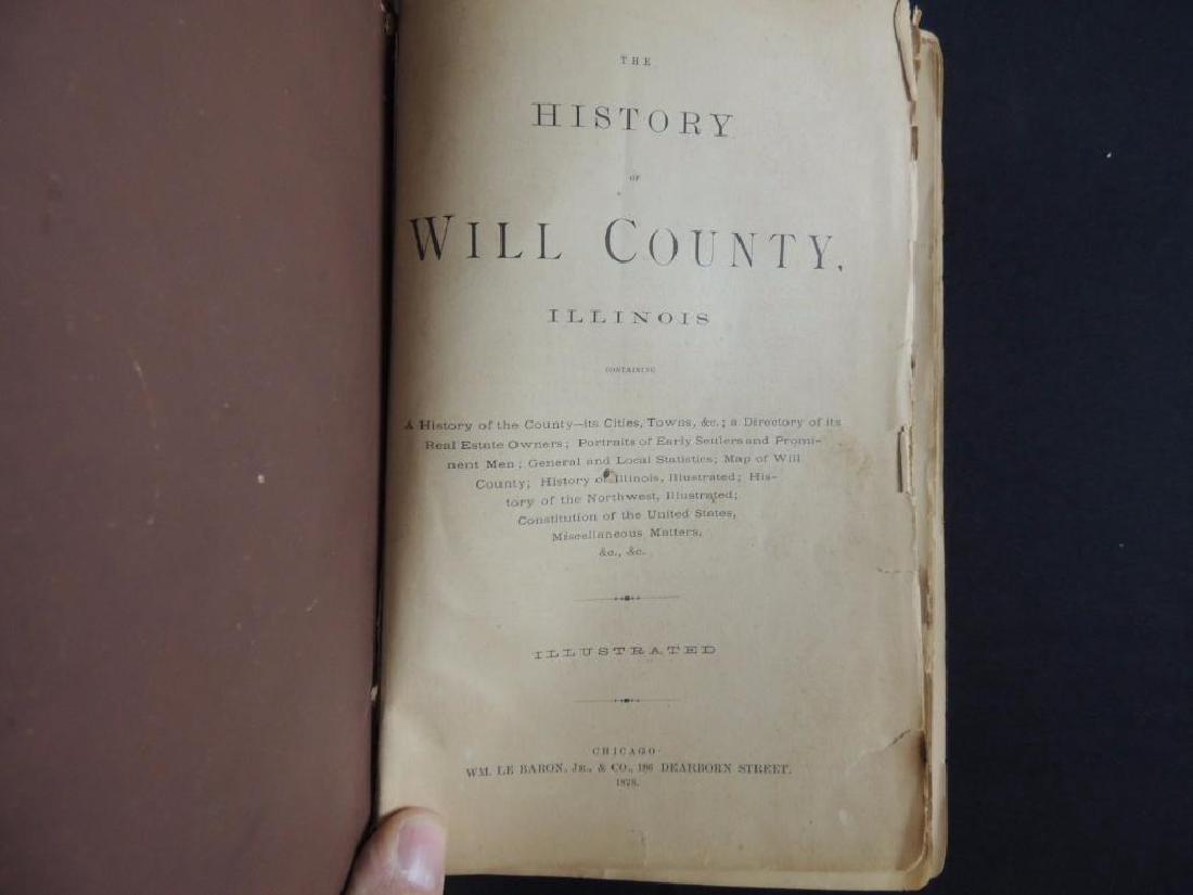 1878 History of Will County Illinois - 2