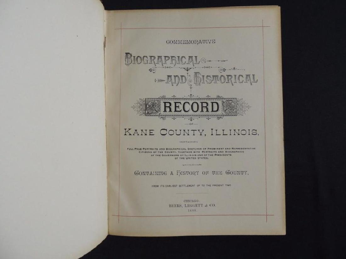 1888 Biographical and Historical Record of Kane County - 2