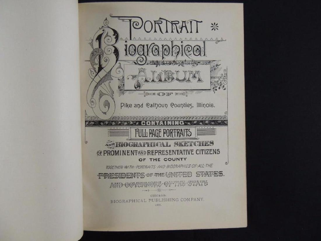 1891 Portrait and Biographical Album of Pike and - 2
