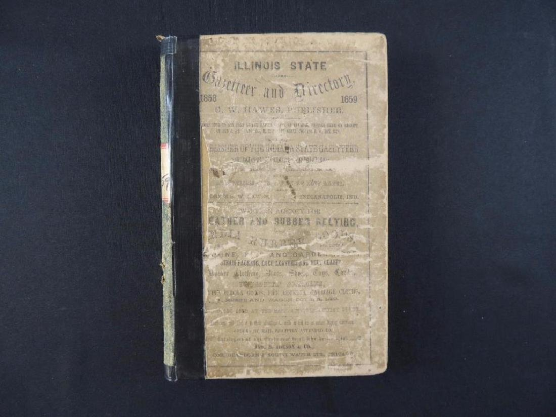 1859 Illinois Stat Gazetteer and Business Directory
